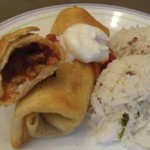Make-Ahead Beef Chimichangas