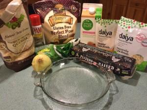 Ingredients for my gluten free, dairy free, vegetarian quiche.