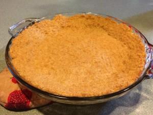 Here's my quinoa crust. Nice eh?
